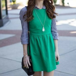 J.Crew Daybreak Dress Size M Green Fit & Flare